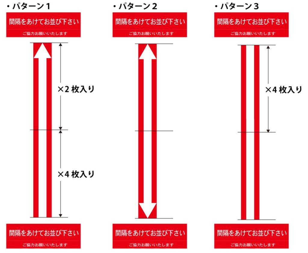 新型コロナウイルス対策シールABCセットパターン例